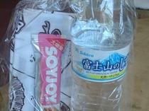【登山女子 専用特典】栄養補助食品・水・タオルのセット(例)