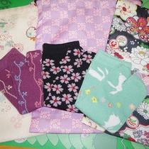 *【女性限定特典】和柄がかわいい♪大きめの巾着&足袋ソックスセット一例