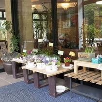 *【館内/直売所】野菜やお花など、産直品の販売コーナーもあります。