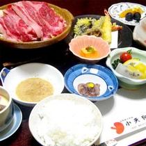 ■夕食一例■