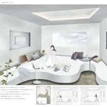 デザイナーズルーム「大きなベッド」
