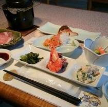 料理長が腕を振るう和風創作会席料理。