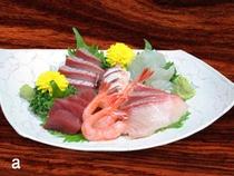 お刺身 (地魚、採りたて天然物)
