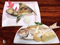 焼き物 (ノドグロ、鯛、柳ガレイ、ぶりカマ等のその時々の旬な焼き魚を一品)