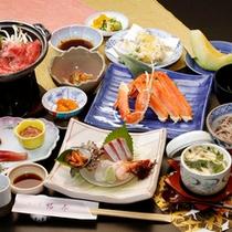 『四季会席コース』日本海で獲れた新鮮な魚介&自然豊かな北陸の山の幸
