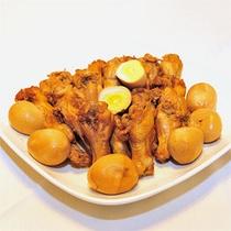【朝食バイキングメニュー】鶏の手羽先!卵とお酢で煮込み味にこだわりあり
