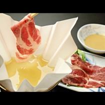 ■【お食事】ローズポークのしゃぶしゃぶ