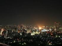 足立山 夜景