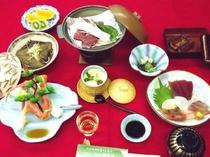 鰻&蟹★海の幸会席プランの料理の一例