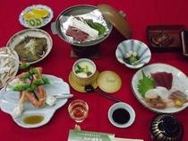 ★鰻&蟹★海の幸会席プランの料理の一例