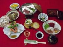 通常プランの夕食の一例