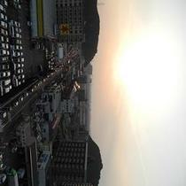 福岡市側夕日