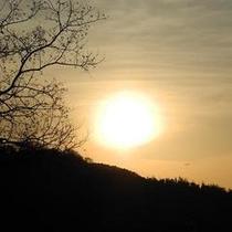 カブトの森公園より夕日