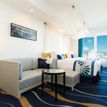 """6〜7階""""海""""フロア客室一例"""