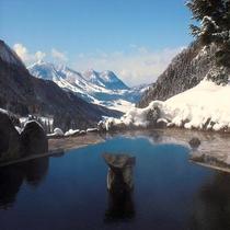 冬の馬曲温泉