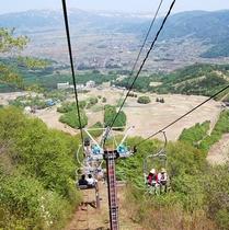 高社山山頂リフトからの風景