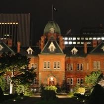 夜の赤レンガ道庁