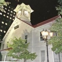 夜の時計台