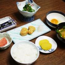 *朝食一例/美味しい有機米が好評♪食堂にて和朝食をご用意いたします。