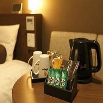 ■客室のドーミーインオリジナル緑茶とドトールドリップコーヒーをご賞味下さい♪