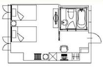【客室平面図】※客室によってレイアウトや設備が異なる場合があります。