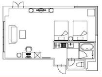 【客室平面図】※このタイプは1部屋限定となります。