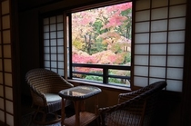 秋Aタイプ客室 窓辺
