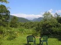 庭からの風景