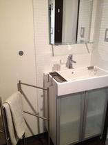 新しく入れ替えた可愛らしい洗面台
