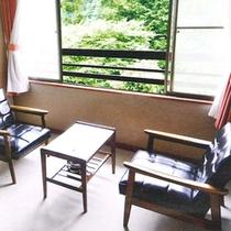 *窓からの景色は四季折々の変化を楽しむことが出来ます