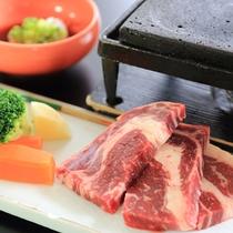 *【2017年春】5~6月Cコース/グレードアップコースメイン料理はジューシ~「国産牛ロース石焼」