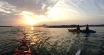 天草の海でサンセットシーカヤック体験