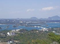 岬亭と松島を一望