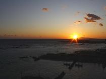 【お部屋~】太平洋に沈む美しい夕陽♪