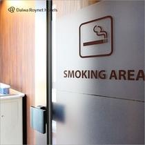 フロント階に喫煙ルーム設置しました。