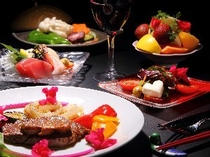 和食ベースに洋食の要素もふんだんに取り入れています。基本はお箸で召し上がって頂きます。