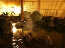 【貸切野天風呂】山並みを眺めながらゆったりご入浴下さい。