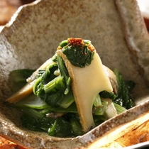 【秋御膳】料理一例アワビの煮びたし
