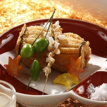 【秋御膳】料理一例ソフロシェル