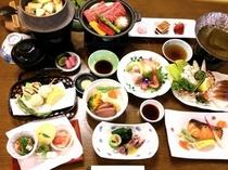 会席料理の一例(春)