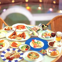 ☆夕食グルメバイキング