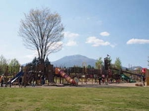 お散歩圏内にある「湯川ふるさと公園」は広々として遊具も充実!お子様連れに人気です。