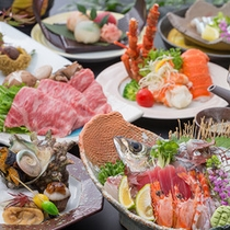 【贅沢の極み】海の幸三昧&厳選牛の最高級会席!鹿児島・日置の美味しいもの詰め合わせ!