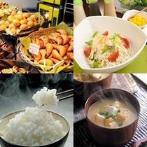 焼き立てとご飯と味噌汁
