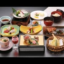 ●<梅コース(一例)>地元産の食材を中心にご用意する基本の会席です。