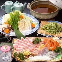 【竹取鍋】バラエティに富んだ地元産の具材たっぷり