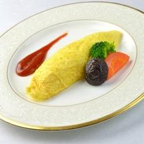 □朝食(オムレツ)
