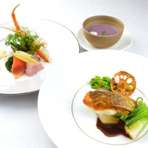 □前菜&魚料理
