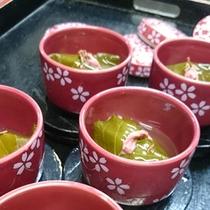 甘鯛の道明寺包みの桜蒸し