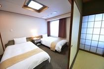 【和洋室】5名様までご宿泊できますので、家族旅行に最適です